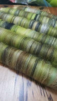 100Gr Wool Glitz Rolags 'winter' Spinning Felting Carding Fibre Art Craft