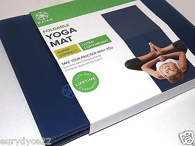 Gaiam Foldable Yoga Mat travel Popsugar Must Have NEW portable Vegan Lifestyle