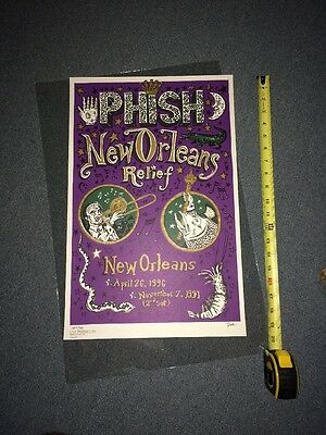 Phish New Orleans Katrina Benefit Poster Pollock Rare