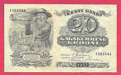 Estonia 1932 Bank of Estonia 20 Krooni P-64a