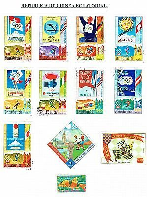 Equatorial Guinea  Good selection of used stamps (26) on 3 pages