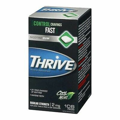 (14 Packs) Thrive Nicotine Gum - 108 Pc 2mg