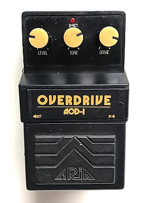 Aria AOD-1, Overdrive, Made In Japan, 1980's, Guitar Effect Pedal