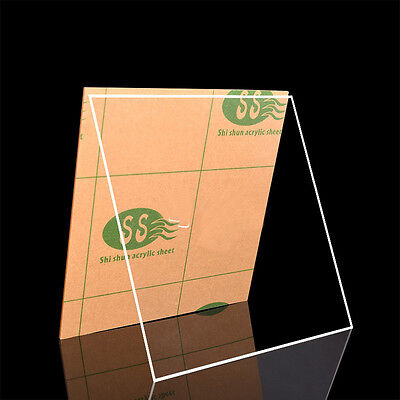 Round/Square Clear Transparent  Acrylic Sheet Plexiglass Board Plastic Plate