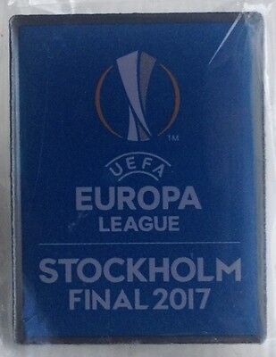 2017 AJAX v MAN MANCHESTER UNITED UTD EUROPA LEAGUE FINAL OFFICIAL PIN BADGE