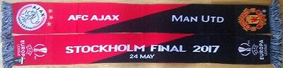 2017 AJAX v MAN MANCHESTER UNITED UTD EUROPA LEAGUE FINAL OFFICIAL SCARF 1
