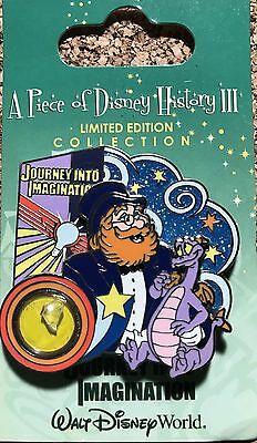 WDW 2008 Piece Of Disney History III Journey Into Imagination Figment LE Pin