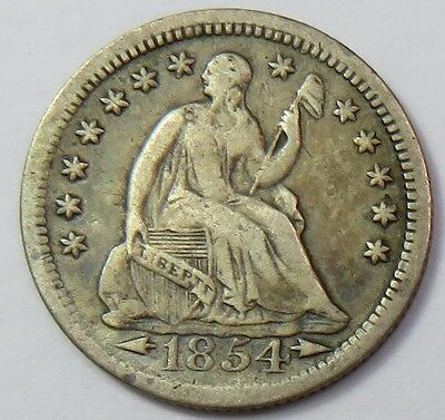 1854-P Seated Liberty Half 1/2 Dime Silver 5c US Coin Item #12856