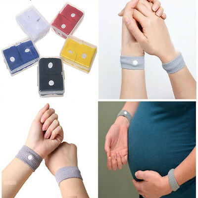 2 X Anti Nausea Wrist Bands For Morning Sickness Motion Travel Sick Car Sea