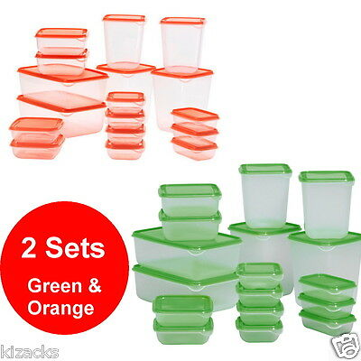 2 x 17 IKEA Piece Plastic Food Storage Containers Container Kitchen PRUTA