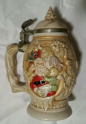 Avon Father Christmas Stein 1994 Collectible Numbered Pristine/Perfect Low Ship