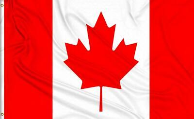 Large 3' x 5' Canada Flag High Quality 100% Polyester - Free Shipping