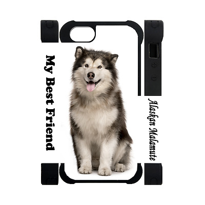 ALASKAN MALAMUTE Photography Dog Puppy Lovers Gift Rubber Polymer Iphone 5 Case