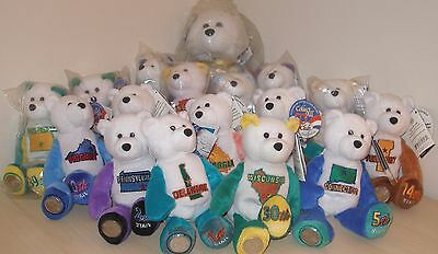 New Limited Treasures 50 States Of America Coin Bears Lot Rare Hard To Find 13""