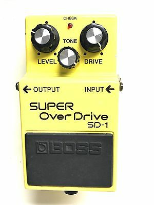 Boss SD-1, Super Overdrive, Made In Japan, 1985, Guitar Effect Pedal