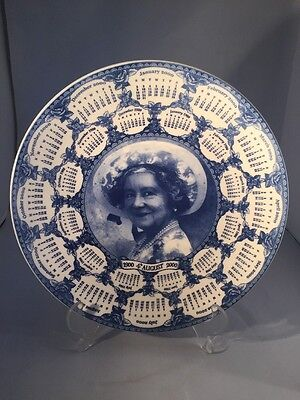 the queen mother centenary calendar plate 1900 2000 wedgwood with certificate