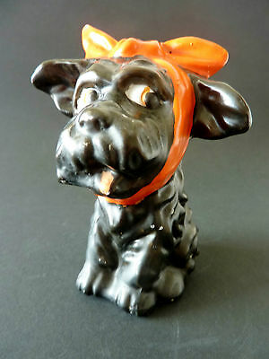 1930s ART DECO SCOTTY bath salts TOOTHACHE DOG figurine 1930s JAPANESE porcelain