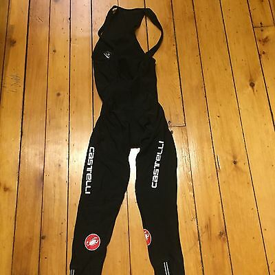 Castelli Polar Due Bib Cycling Tights Medium Cold Weather Biking