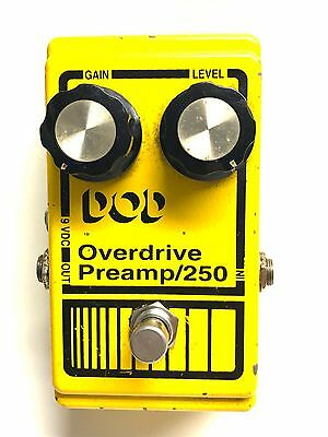 DOD 250, Overdrive Preamp, 1990's, Guitar Effect Pedal
