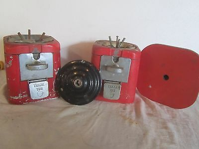 OAK Acorn Gumball /  prize machine for parts, 5 & 10 cent mech. both together