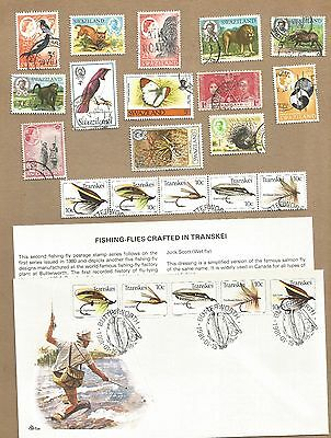 Swaziland and SA Homelands. 18 diff + 3 FDC with Info Cards + H/C FDCd (Ref 612)