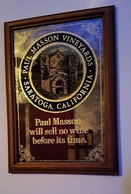 Vintage Paul Masson Vineyards  Mirror