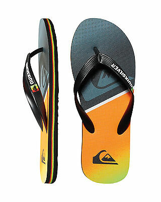 NEW QUIKSILVER™  Mens Molokai Division Logo Thong Flip Flops Slippers