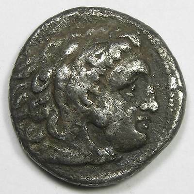 c. 300 B.C. Alexander the Great Ancient Greek Silver Drachm Coin