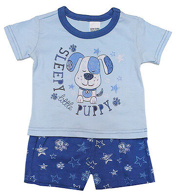 Baby Boy Pajamas - Sleepy little puppy - Size 00