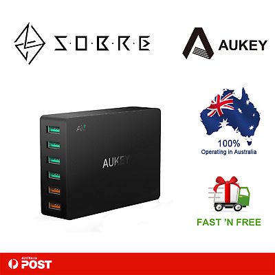 AUKEY 6 Port QC3.0 USB Port Wall Charger Quick Charging Station Power Adapter
