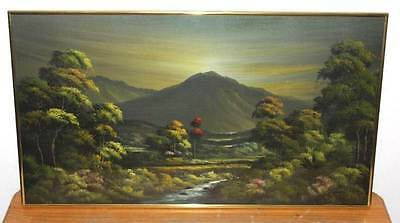 Large Oil Painting Behind Glass, Signed by the artist beautiful art work vintage