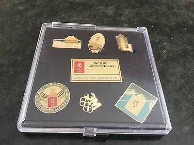 Collection Pin's Jeux Olympiques Albertville 1992  COFFRET 6 pins