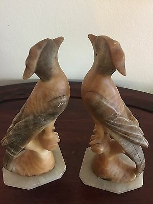 Antique Marble / Alabaster Birds Figurine