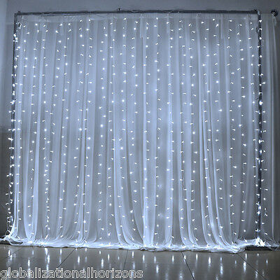 6Mx3M Cool White LED Fairy Lights for Wedding Backdrop Curtain Light Party Decor