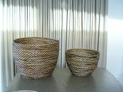 Fabulous Country Road - Pair Of Baskets