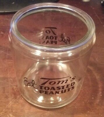 Tom's Toasted Peanuts Country Store Jar antique advertising vintage 5 cents rare