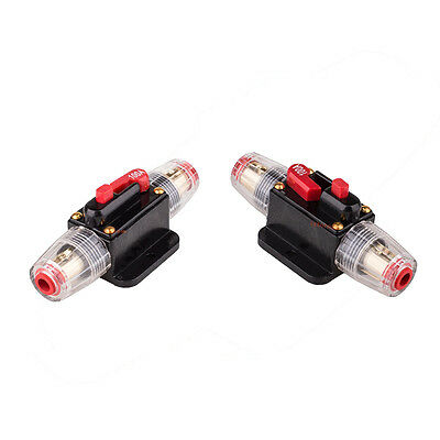 2pcs 100AMP DC12V Car Stereo Audio Circuit Breaker Inline Fuse Holder Waterproof