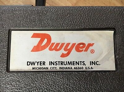 Dwyer Instruments  - Hand Held - Set  - Made in USA Very Rare
