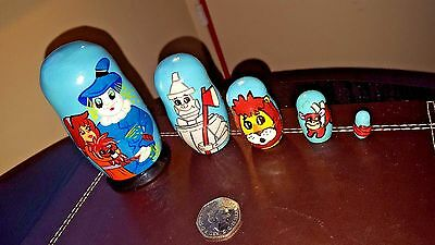 Wizard of Oz Matryoshka Russian Nesting Wooden Dolls Set 5pc