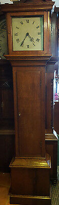 Antique Oak Grandfather Clock with Birdcage Movement, Delivery Arranged