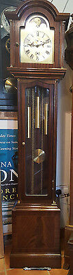 Mahogany 8 day Westminster Chiming Grandfather Clock with Moon Phase & Calander