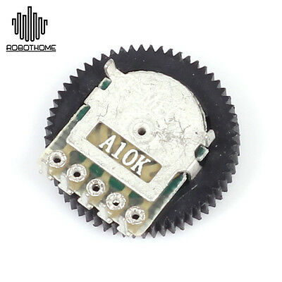 1pc A103 10K Duplex Gear Potentiometer A10K Stable for Radio MP3/MP4