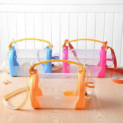 Dwarf hamster outdoor travel carrier bag with feeder/ water bowl