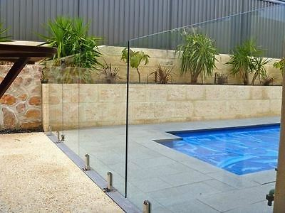 12mm Clear Toughened Tempered Glass 1.2m High - Frameless Pool Fence Wholesaler