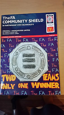 FA Community Shield 2004 Cup Final Manchester United v Arsenal Programme