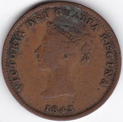 1843 Canada New Brunswick Half-Penny Token***Collectors***Copper***