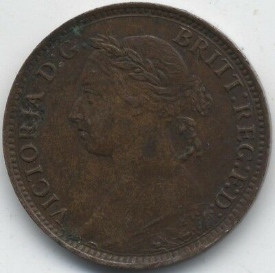 1895 Victoria Young Bun Head Farthing***Collectors***High Grade***