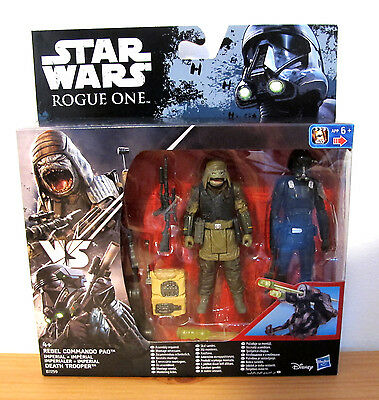 Star Wars Rogue One Hasbro Pack Rebel Commando Pao Y Death Trooper