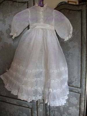 Beautiful French Vintage Organza /Lace Christening Gown With Matching Cape