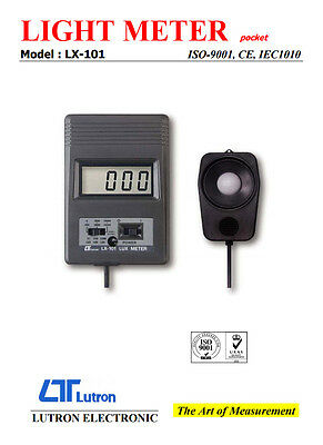 Lutron LX-101 Pocket Size Digital Lux Light Meter 2000/20000/50000 Lux Zero Adj